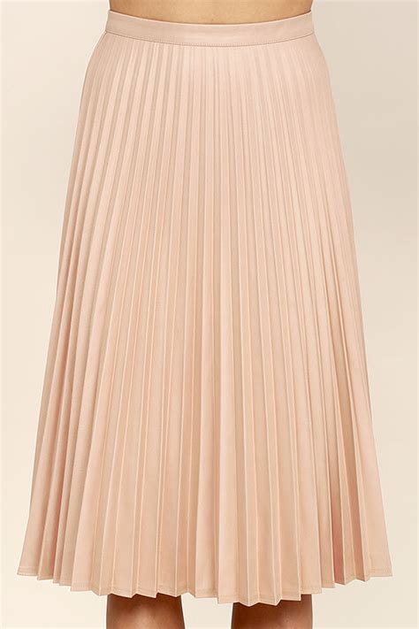 blush pink skirt midi skirt high waisted skirt