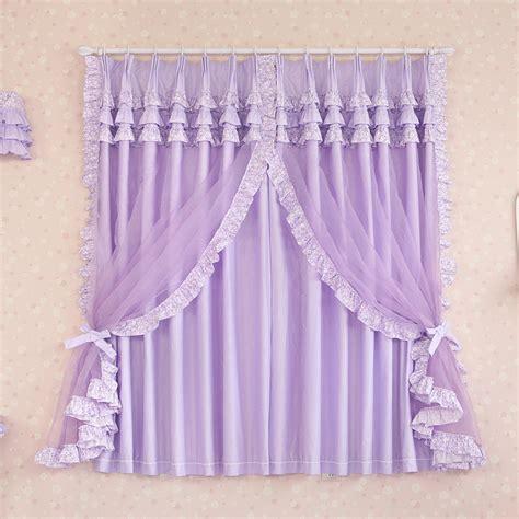 Purple Curtains For Room Aliexpress Buy Custom Made Luxury Purple Cotton