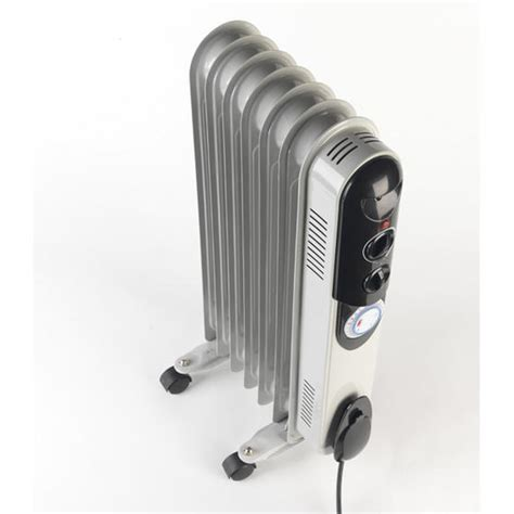 Steting 1500 Watt beldray 1500 watt 7 fin filled radiator with 3 heat settings and timer beldray