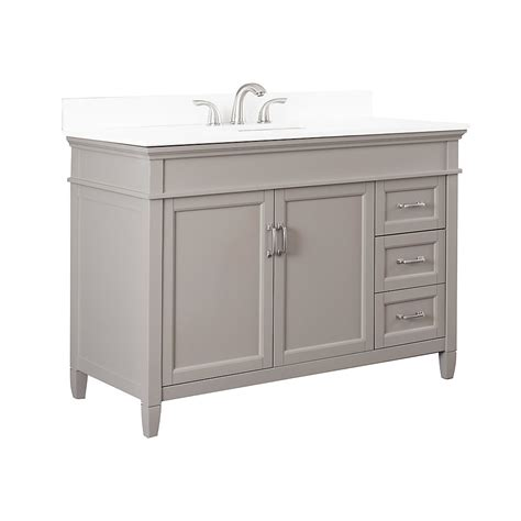 foremost ashburn   vanity combo  grey  lily
