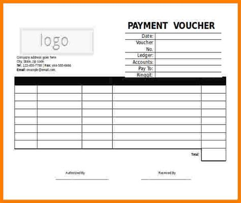 Receipt Voucher Template Word by 7 Payment Voucher Format In Word Sales Slip Template