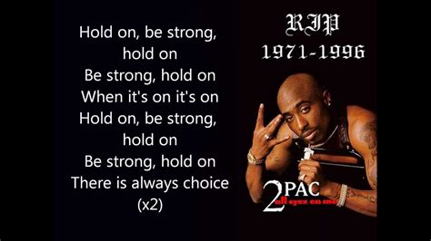 Hold On Be Strong Tupac   2pac feat nujabes hold on be strong lyrics youtube