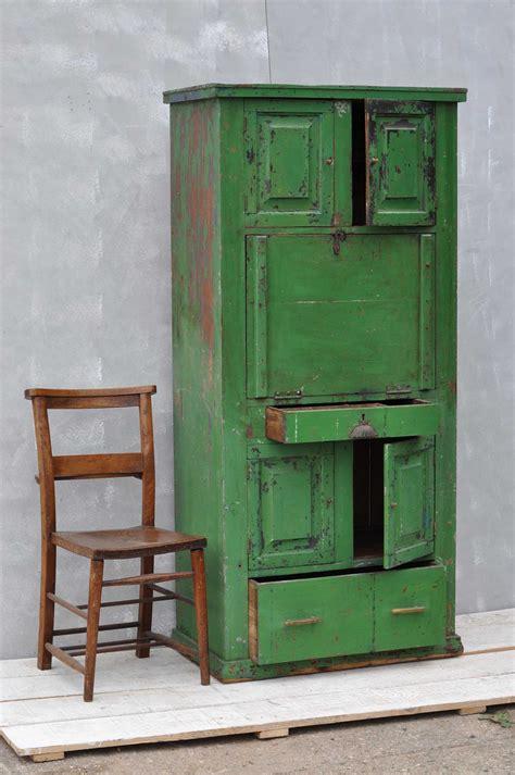 bureau vintage rustic vintage bureau cabinet original green paintwork