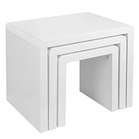 white nest of tables schindora 174 high gloss nest of coffee table side table