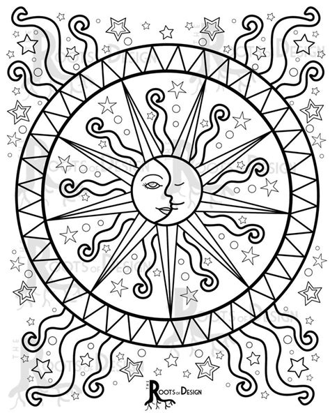 moon mandala coloring pages 25 best ideas about mandala coloring pages on pinterest