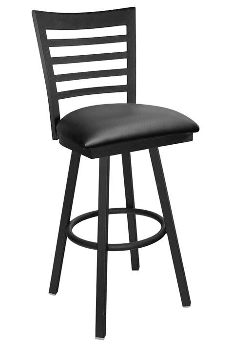 Ladder Back Bar Stools With Seats by Gladiator Ladder Back Metal Swivel Bar Stool With