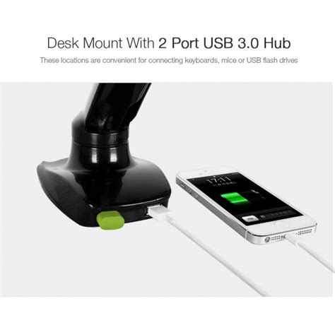 mount usb hub desk loctek store loctek desk monitor mount w usb port d5u