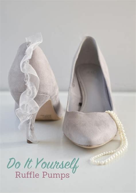 diy pumps shoes how to make pretty ruffle pumps a diy shoes makeover