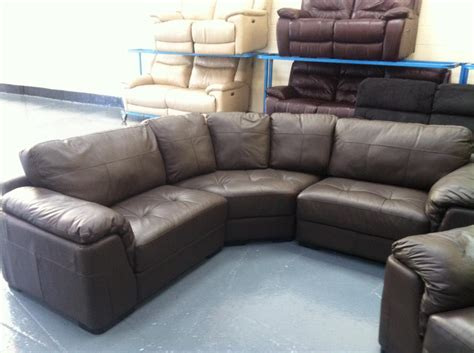 used sofa birmingham ex display santiago brown leather corner sofa and armchair