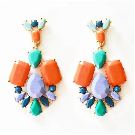 colorful earrings multi colored earrings statement earrings with mixed