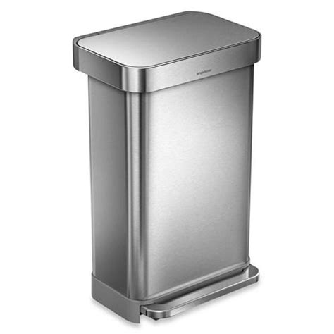 simplehuman bathroom bin simplehuman rectangular step can rubbish bin 45l peter