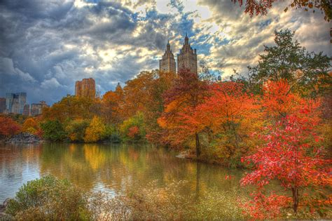 in fall fall foliage in central park new york city hdr anthony