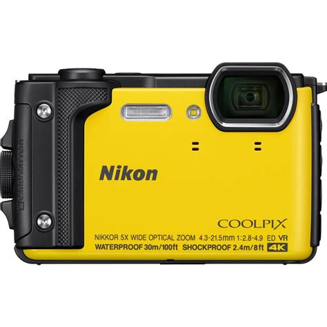 nikon waterproof nikon coolpix w300 yellow waterproof compact cameras