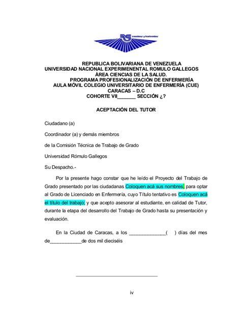 carta de aceptacion para universidad aceptaci 243 n tutor aprobaci 243 n tutor y aprobaci 243 n jurado une