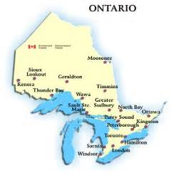Ontario Canada Map by Ontario Canada Map With Cities Galleryhip Com The