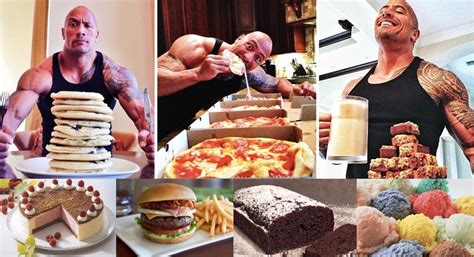 dwayne the rock johnson cheat day food cheat day rest day fitnessmagnet 169
