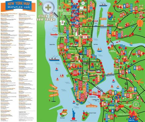 manhattan landmarks map 13 best images about maps of new york city and manhattan