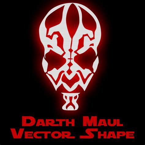 darth maul template darth maul vector shape by retoucher07030 on deviantart