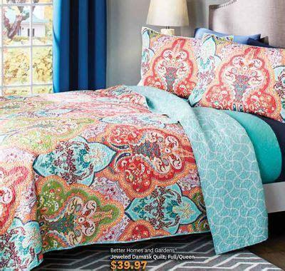 homes  gardens jeweled damask quilt fullqueen love  home bedroom decor