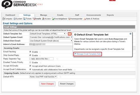 Understanding Service Desk Management Using Comodo One From The Desk Of Email Template