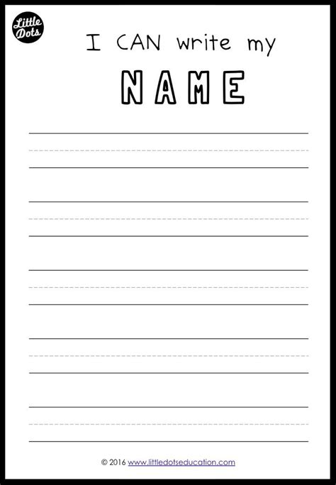 free printable to practice writing your names for