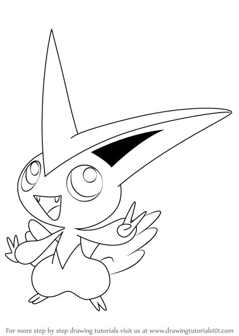 pokemon coloring pages victini step by step how to draw victini from pokemon