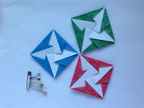 Origami Square Envelope - 3 square japanese tato origami envelopes or flat containers