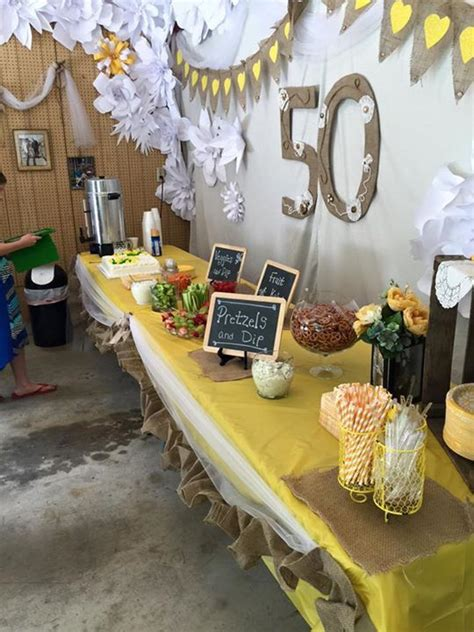 Wedding Anniversary Brunch Ideas by 50th Anniversary Food Table 50 Th Anniversary Open House