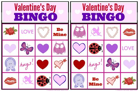 free valentine bingo game printable collection for kids