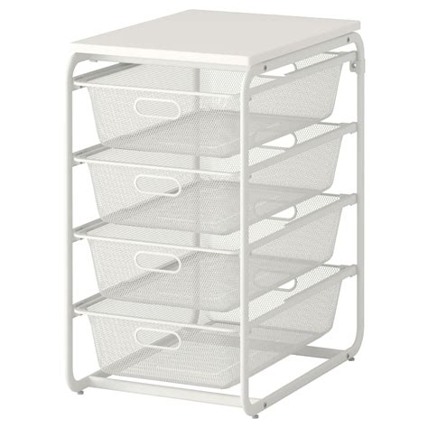 ikea basket drawers algot frame 4 mesh baskets top shelf white 41x60x75 cm ikea