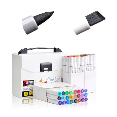 design art markers high quality arts supplies chisel and brush dual twin tip