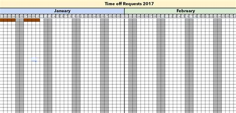 Managing Holidays And Time Off Requests With Excel Template 2018 Time Request Calendar Template