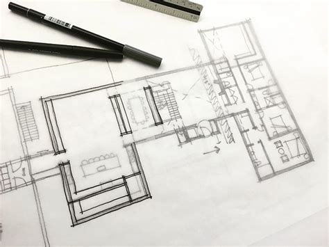 floor plan sketch designing elevations life of an architect