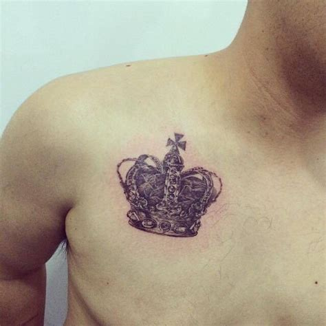 tattoo chest crown 40 crown tattoos on chest
