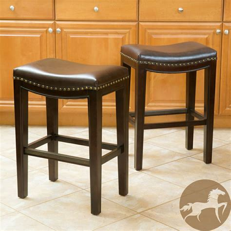 christopher bar stools overstock christopher avondale brown backless counter stools