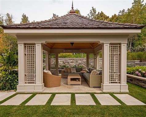 Outdoor Living Gazebo Garden Design Modern Gazebo As Sunroom And Outdoor Living