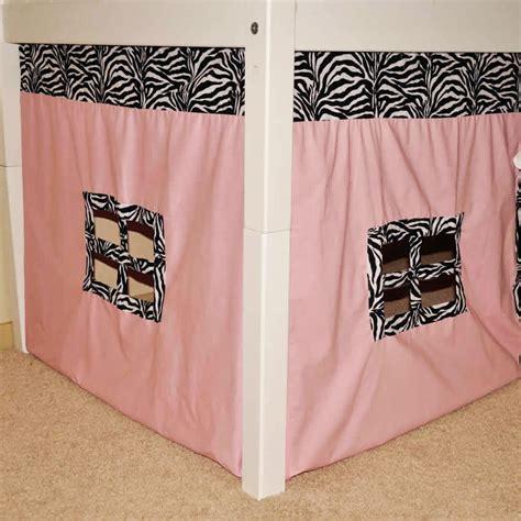 zebra bunk beds maxtrix bunk or loft bed w pink zebra print playhouse