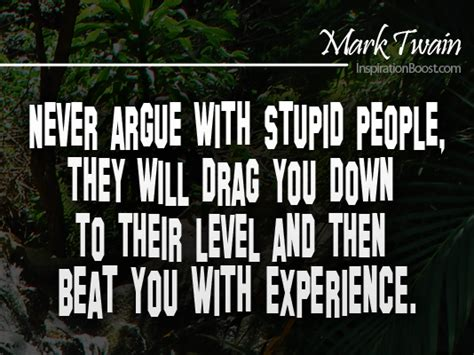 Stupid Quotes Never Argue With Stupid Inspiration Boost