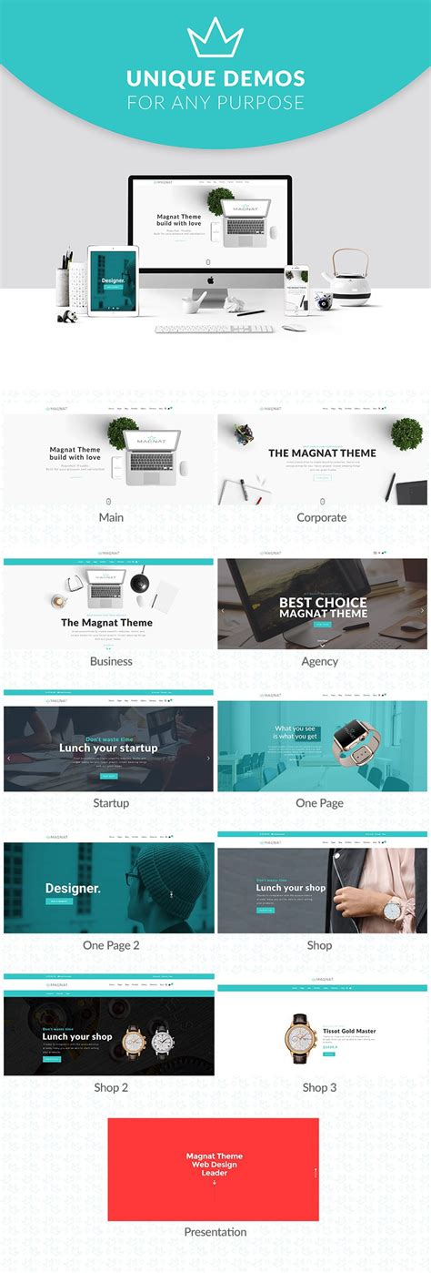 wordpress theme center layout magnat responsive multi purpose wordpress theme business