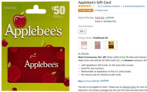 Applebee S Gift Card Special - applebee gift cards at other restaurants lamoureph blog
