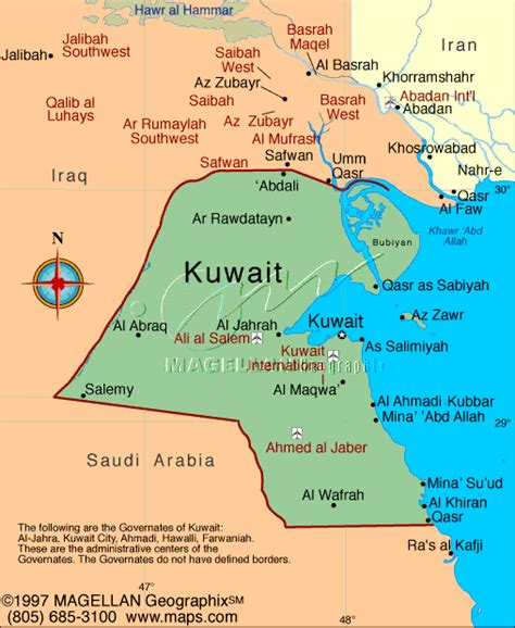 middle east map showing kuwait map developed from original digital cartography by digital