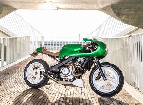 Cafe Kitchen Design The Honda Ntv650 Green Goblin Custom Motorcycle By Wimoto