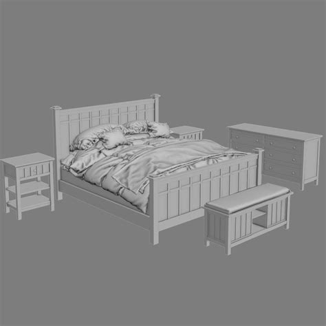 crate and barrel bedroom furniture crate and barrel brighton bedroom furniture 3d model max