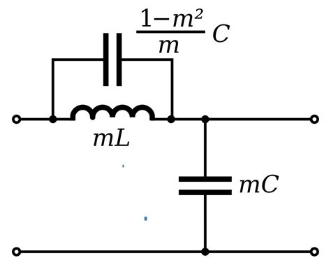 what is a half section file m derived shunt low pass filter half section svg