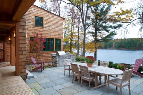 house patio new hshire lake house traditional patio boston by sheldon pennoyer architects