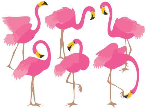 flamingo clip flamingo clipart digital vector flamingo bird