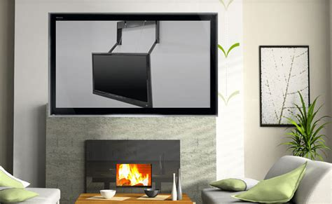 mount your tv the fireplace with the motorized