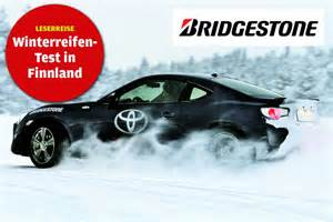 Autobild Winterreifentest 2013 by Bridgestone Partneraktion Winterreifentest In Finnland