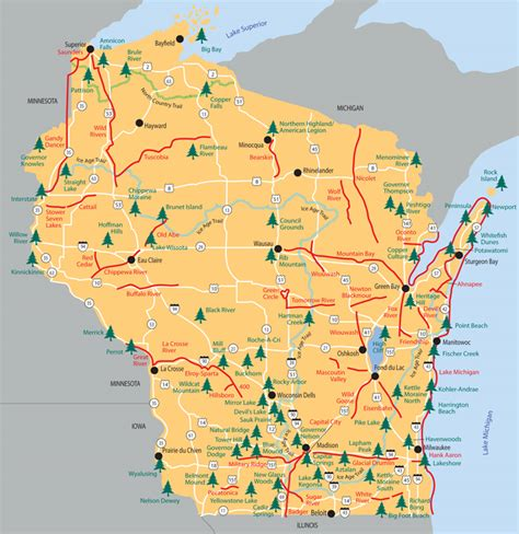 state parks map map of michigan state parks afputra
