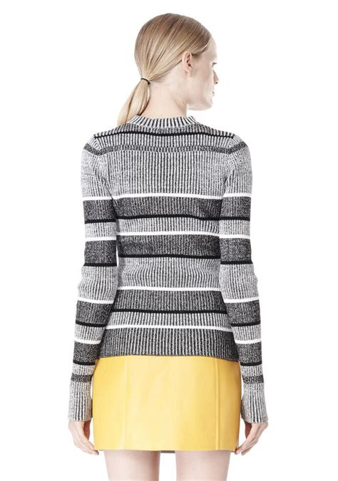 mock neck sleeve knit top rib knit sleeve mock neck top top wang